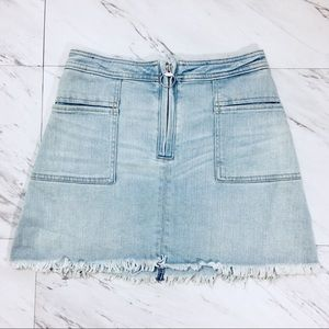 Abercrombie & Fitch Light Distressed Mini Skirt  2